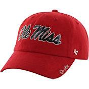 '47 Women's Ole Miss Rebels Red Clean Up Sparkle Adjustable Hat