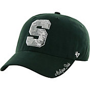 '47 Women's Michigan State Spartans Green Clean Up Sparkle Adjustable Hat