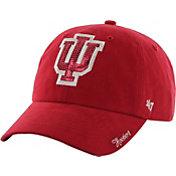 '47 Women's Indiana Hoosiers Crimson Clean Up Sparkle Adjustable Hat