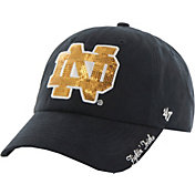 '47 Women's Notre Dame Fighting Irish Navy Sparkle Clean-Up Adjustable Hat