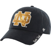 '47 Women's Notre Dame Fighting Irish Navy Sparkle Clean-Up Adjustable Hat