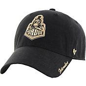 '47 Women's Purdue Boilermakers Black Sparkle Clean-Up Adjustable Hat