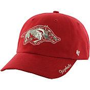 '47 Women's Arkansas Razorbacks Cardinal Sparkle Clean-Up Adjustable Hat