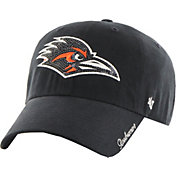 '47 Women's UTSA Roadrunners Black Sparkle Clean-Up Adjustable Hat