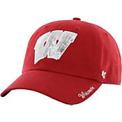 '47 Women's Wisconsin Badgers Red Clean Up Sparkle Adjustable Hat