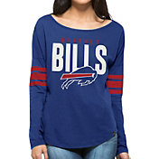 '47 Women's Buffalo Bills Courtside Blue Long Sleeve Shirt
