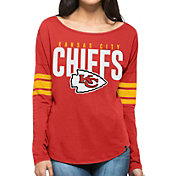 '47 Women's Kansas City Chiefs Courtside Red Long Sleeve Shirt
