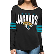 '47 Women's Jacksonville Jaguars Courtside Black Long Sleeve Shirt