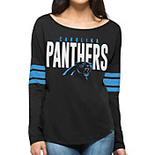 '47 Women's Carolina Panthers Courtside Black Long Sleeve Shirt
