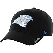 '47 Women's Carolina Panthers Sparkle Adjustable Black Hat