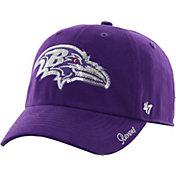 '47 Women's Baltimore Ravens Sparkle Logo Purple Adjustable Hat
