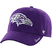'47 Women's Baltimore Ravens Sparkle Logo Purple Adjustable Hat