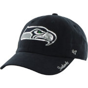 '47 Women's Seattle Seahawks Sparkle Adjustable Navy Hat