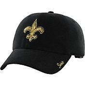 '47 Women's New Orleans Saints Sparkle Logo Black Adjustable Hat
