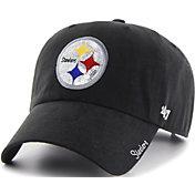 '47 Women's Pittsburgh Steelers Sparkle Logo Black Adjustable Hat