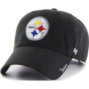 '47 Women's Pittsburgh Steelers Sparkle Logo Black Adjustable Hat