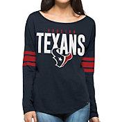 '47 Women's Houston Texans Courtside Navy Long Sleeve Shirt