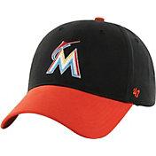 '47 Youth Miami Marlins Short Stack MVP Black/Orange Adjustable Hat