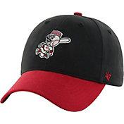 '47 Youth Cincinnati Reds Short Stack MVP Black/Red Adjustable Hat