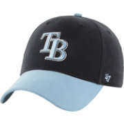 '47 Youth Tampa Bay Rays Short Stack MVP Navy/Light Blue Adjustable Hat