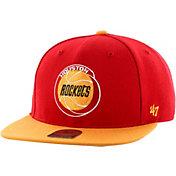 '47 Youth Houston Rockets No Shot Red Adjustable Snapback Hat