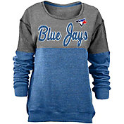 5th & Ocean Women's Toronto Blue Jays Grey/Royal Long Sleeve Fleece Pullover