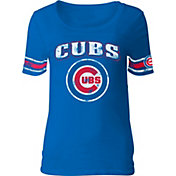 5th & Ocean Women's Chicago Cubs Royal Scoop Neck Shirt
