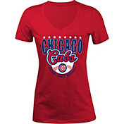 5th & Ocean Women's Chicago Cubs Red V-Neck T-Shirt