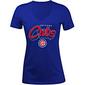 5th & Ocean Women's Chicago Cubs Royal V-Neck T-Shirt