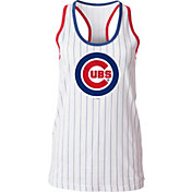 5th & Ocean Women's Chicago Cubs Pinstripe White Tank