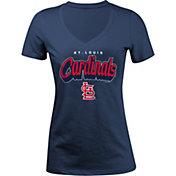 5th & Ocean Women's St. Louis Cardinals Navy V-Neck T-Shirt