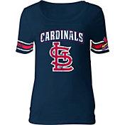 5th & Ocean Women's St. Louis Cardinals Navy Scoop Neck Shirt