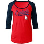 5th & Ocean Women's St. Louis Cardinals Red Three-Quarter Sleeve Shirt