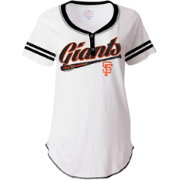 5th & Ocean Women's San Francisco Giants White 3-Button Jersey Shirt