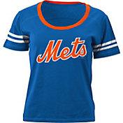 5th & Ocean Women's New York Mets Royal Scoop Neck Shirt