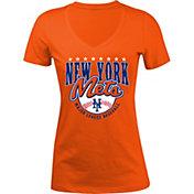 5th & Ocean Women's New York Mets Orange V-Neck T-Shirt