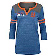 5th & Ocean Women's New York Mets Royal Three-Quarter Sleeve Shirt