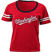 5th & Ocean Women's Washington Nationals Red Scoop Neck Shirt