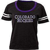 5th & Ocean Women's Colorado Rockies Black Scoop Neck Shirt