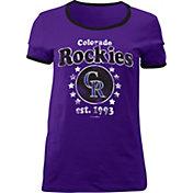 5th & Ocean Women's Colorado Rockies Purple T-Shirt