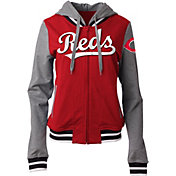 5th & Ocean Women's Cincinnati Reds Red/Grey Full-Zip Hoodie