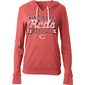 5th & Ocean Women's Cincinnati Reds Red Tri-Blend Hoodie