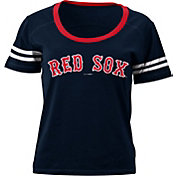 5th & Ocean Women's Boston Red Sox Navy Scoop Neck Shirt