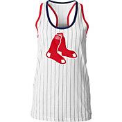 5th & Ocean Women's Boston Red Sox Pinstripe White Tank