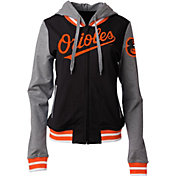 5th & Ocean Women's Baltimore Orioles Black/Grey Full-Zip Hoodie