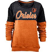 5th & Ocean Women's Baltimore Orioles Black/Orange Long Sleeve Fleece Pullover