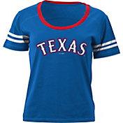 5th & Ocean Women's Texas Rangers Royal Scoop Neck Shirt