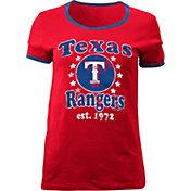 5th & Ocean Women's Texas Rangers Red T-Shirt