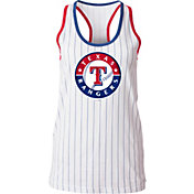 5th & Ocean Women's Texas Rangers Pinstripe White Tank