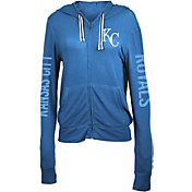 5th & Ocean Women's Kansas City Royals Royal Full-Zip Hoodie